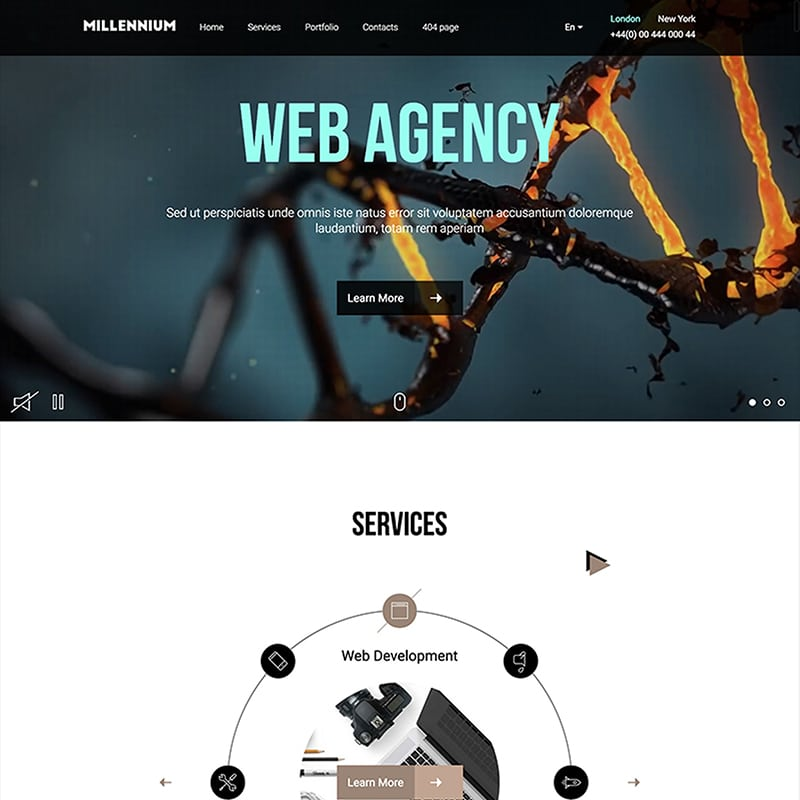 Millennium Website Template