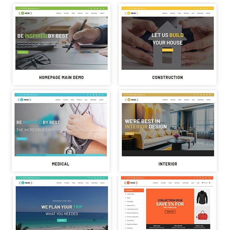 C-HEAD Website Template