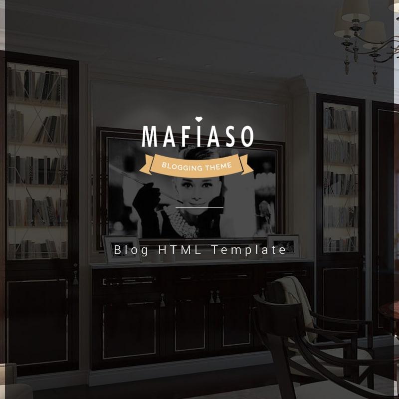 Mafiaso  Website Template