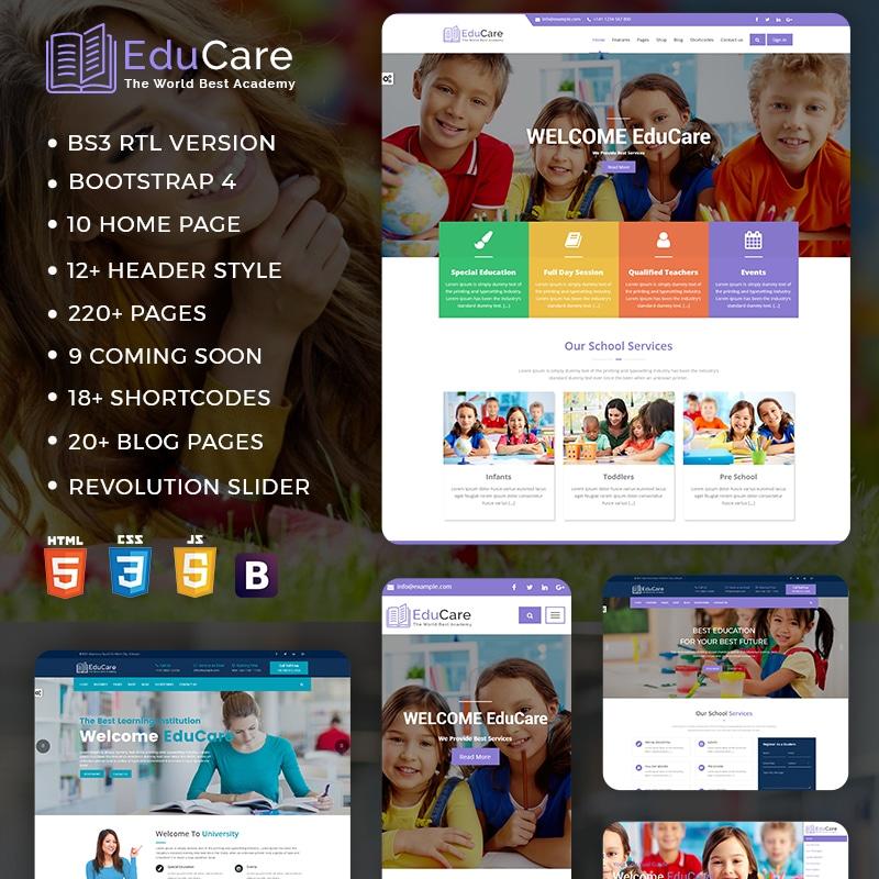 EduCare Website Template