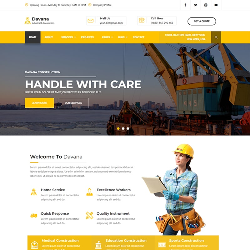Davana Website Template