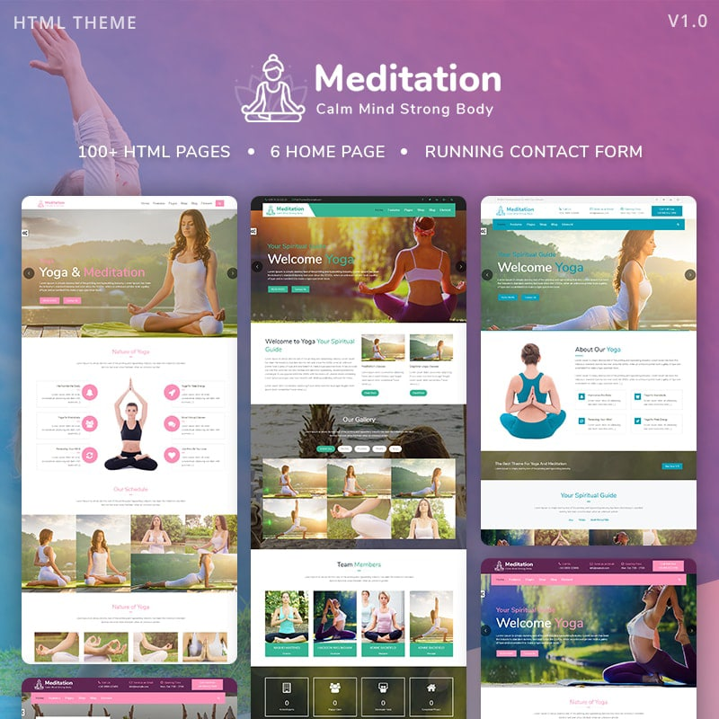 Meditation Website Template