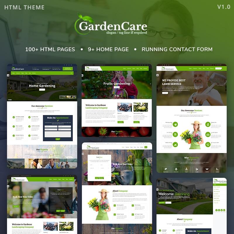 GardenCare Website Template