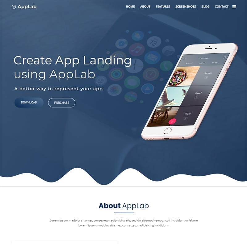 AppLab Website Template