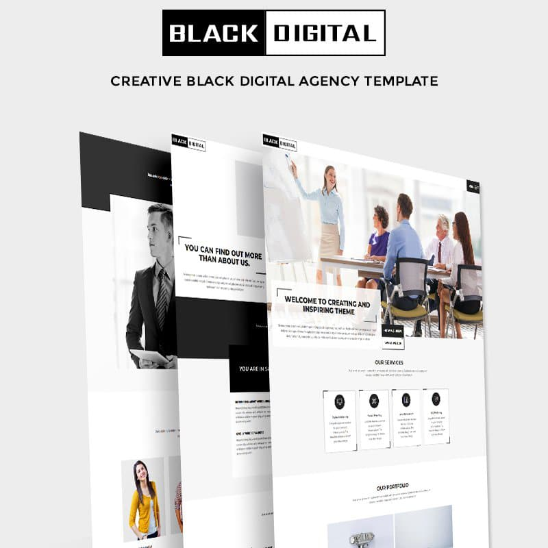 Black Digital Website Template