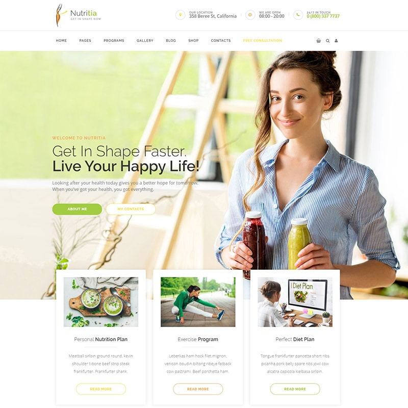 Nutritia Website Template