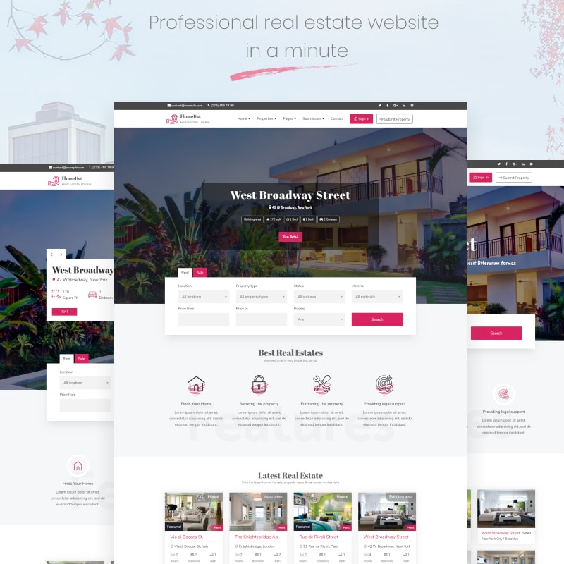 Homelist Website Template