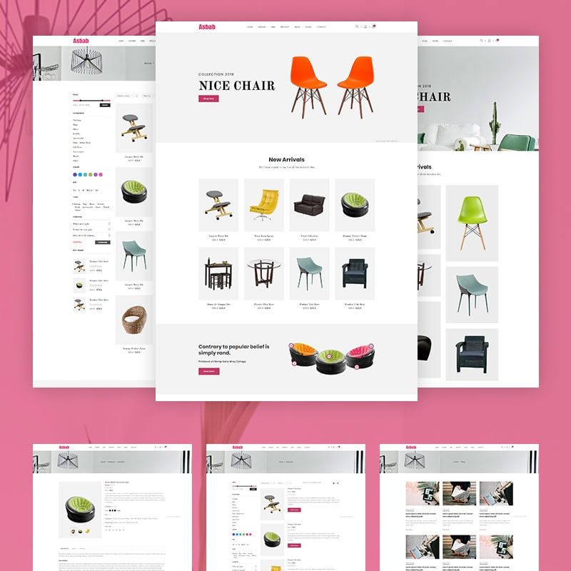 Asbab Website Template