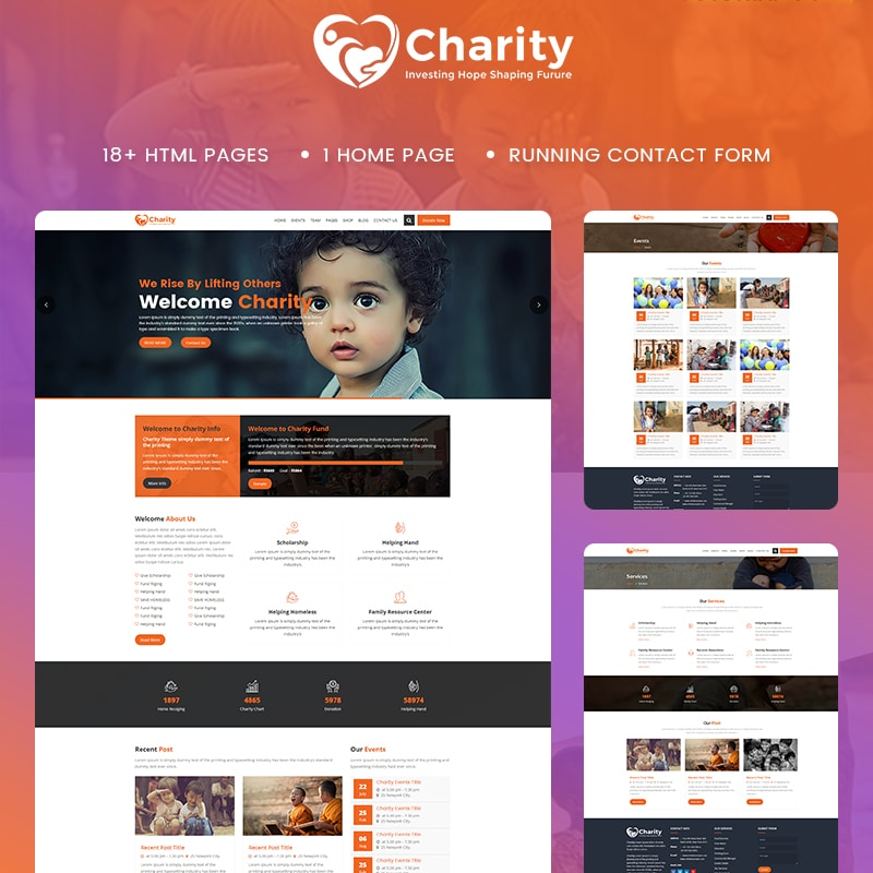 Charity Website Template