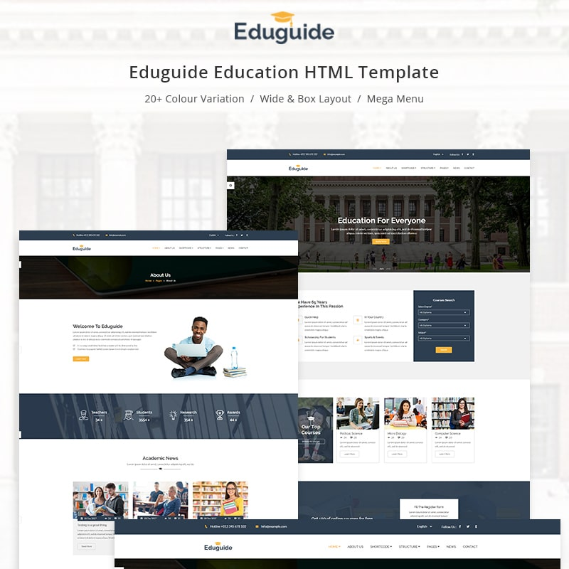 Eduguide Website Template