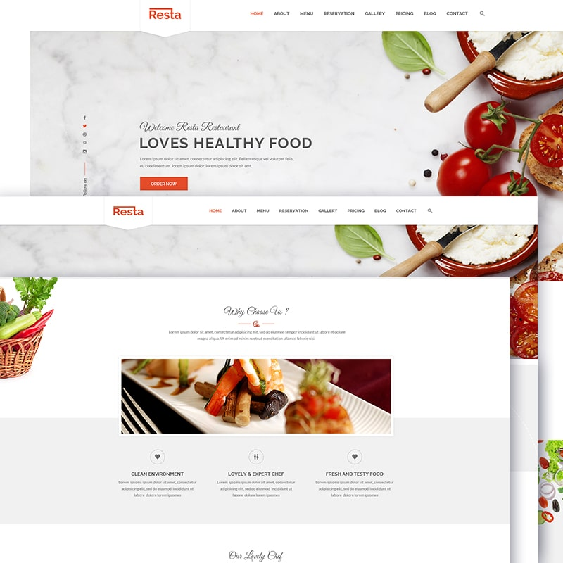 Resta Website Template