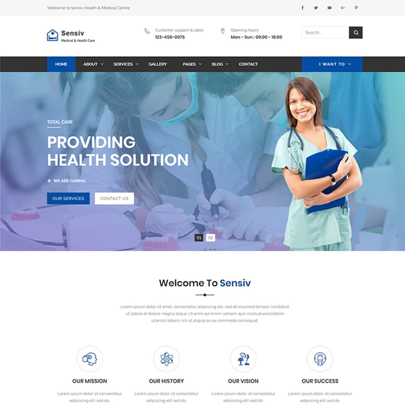 Sensiv Website Template