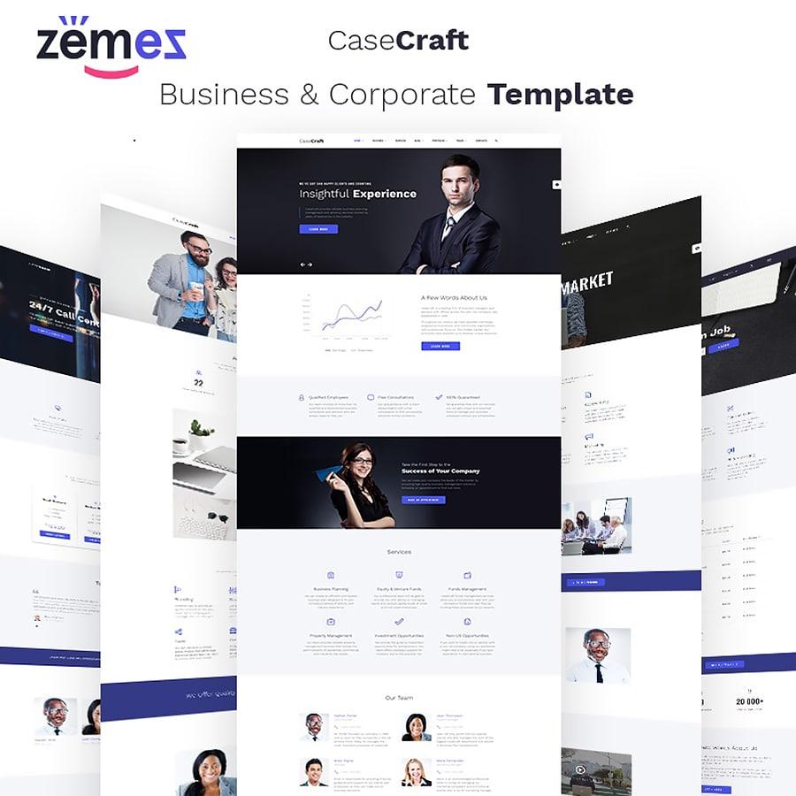 CaseCraft Website Template