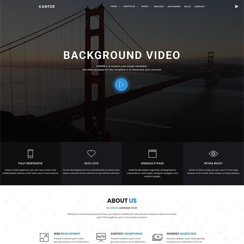 Kanter Website Template
