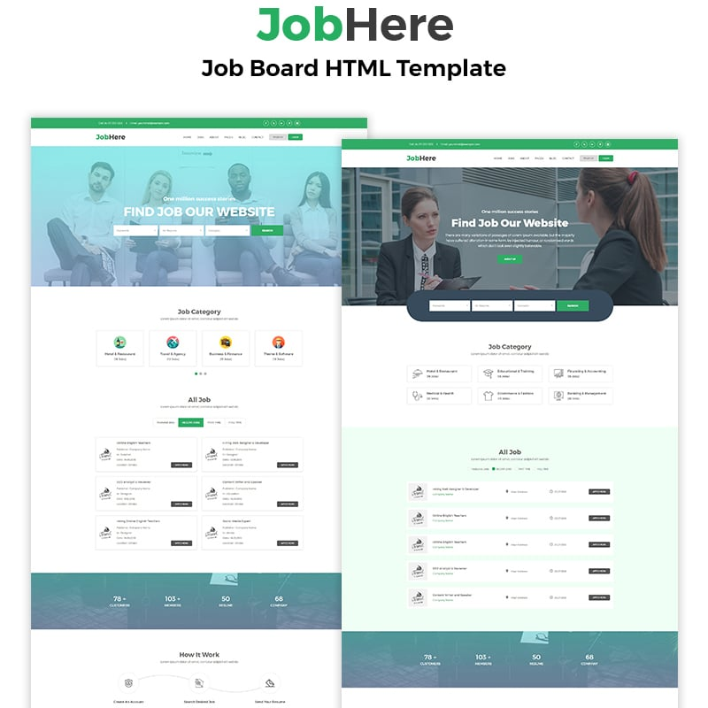 JobHere Website Template