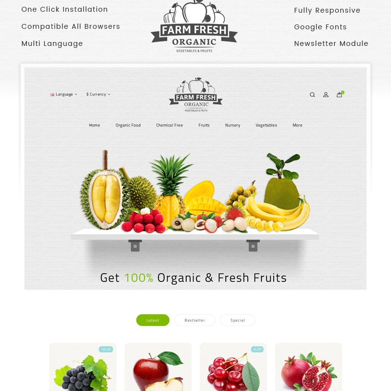 Fresh  Website Template