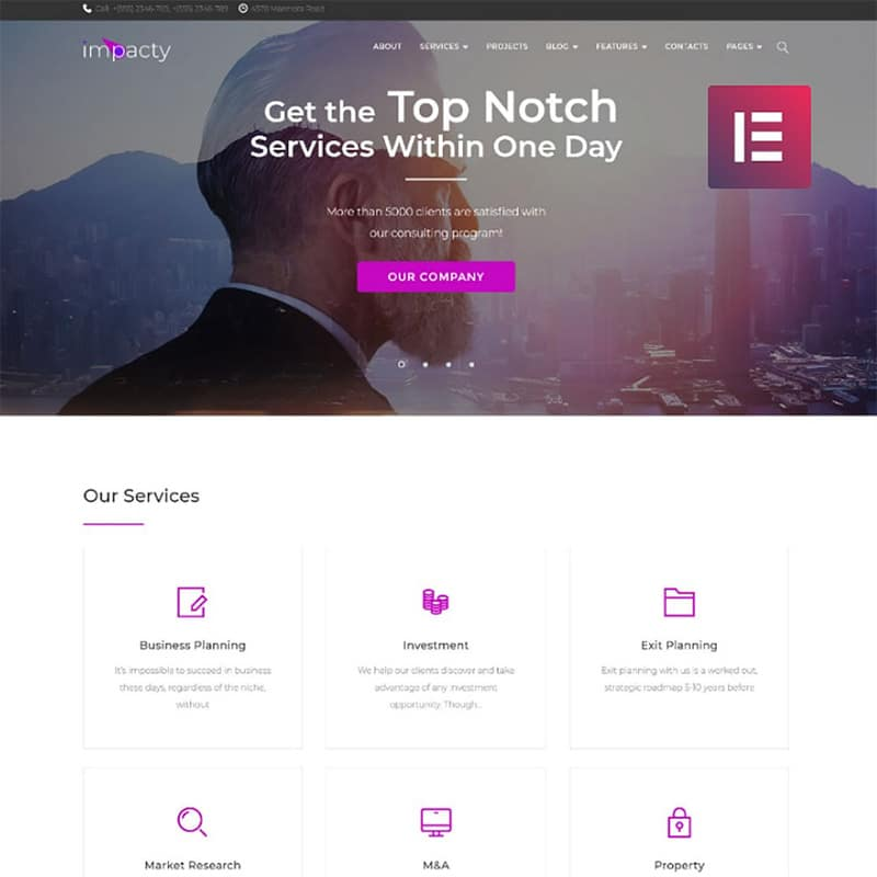 Impacty Website Template