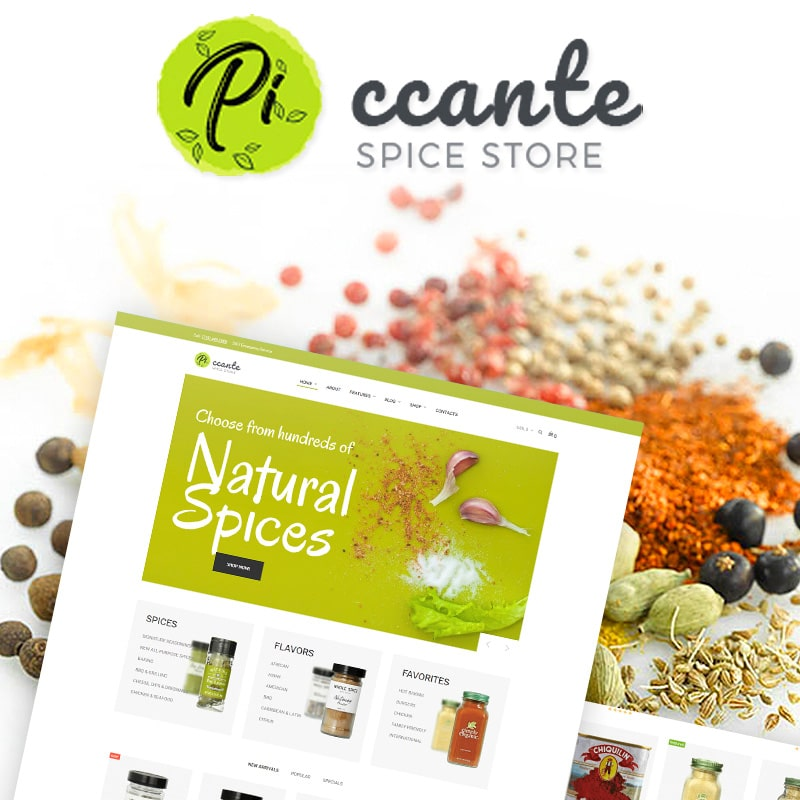 Piccante Website Template