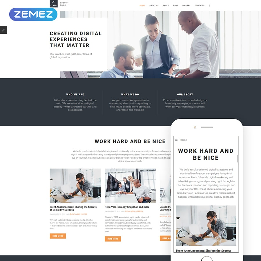 Flash Website Template