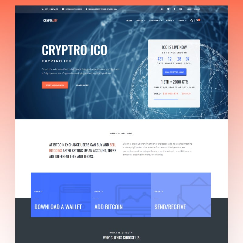 Cryptality Website Template