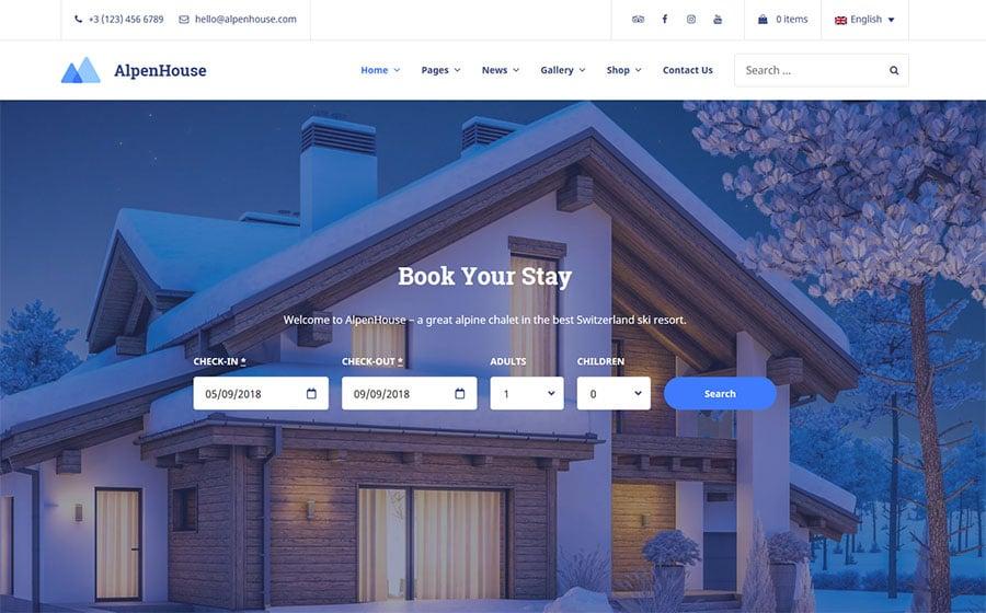AlpenHouse Website Template