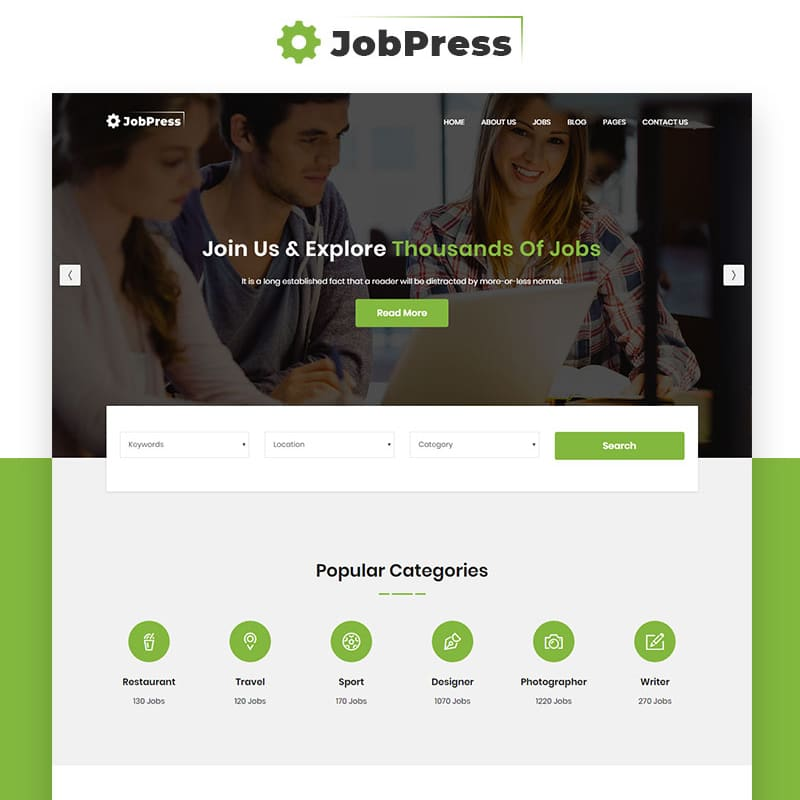 JobPress Website Template