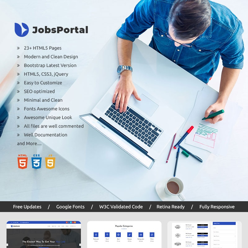 Jobs Portal Website Template