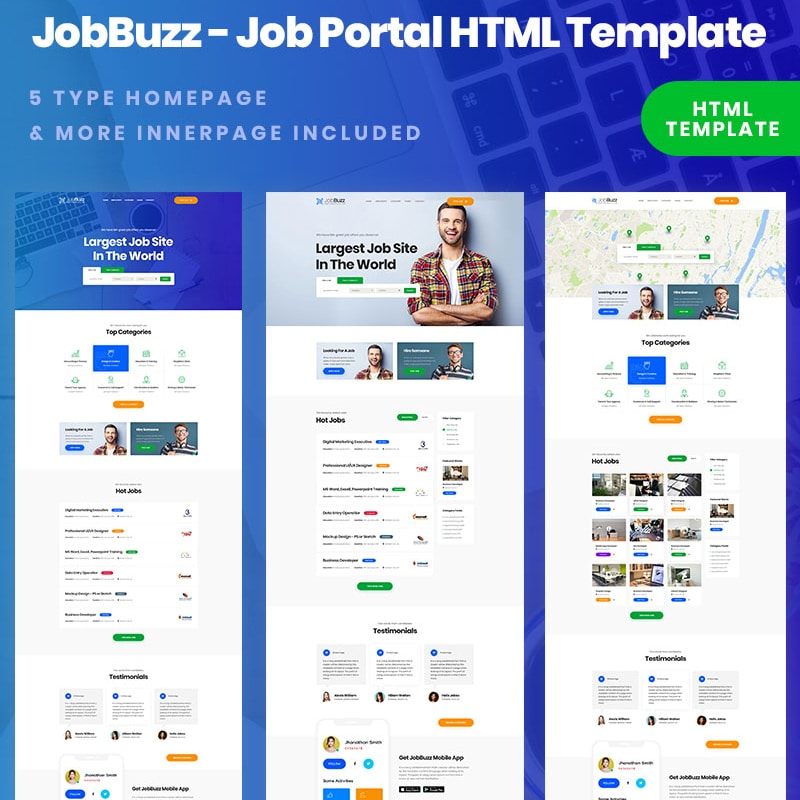 Rexjob Website Template