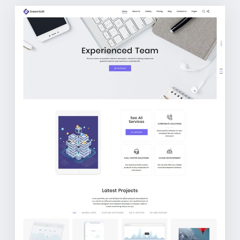 Web Development Multipage HTML Template Website Template
