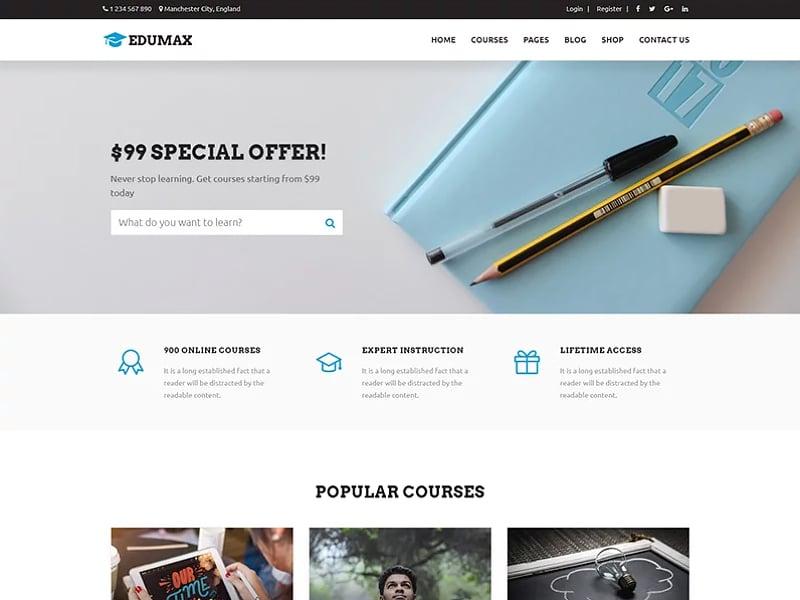 Edumax Website Template
