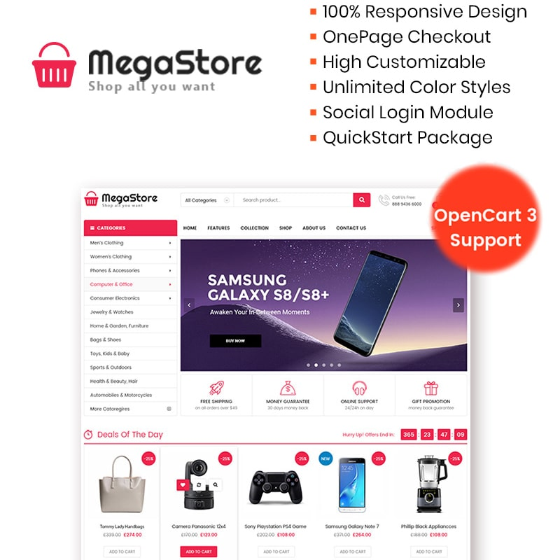 MegaStore  Website Template