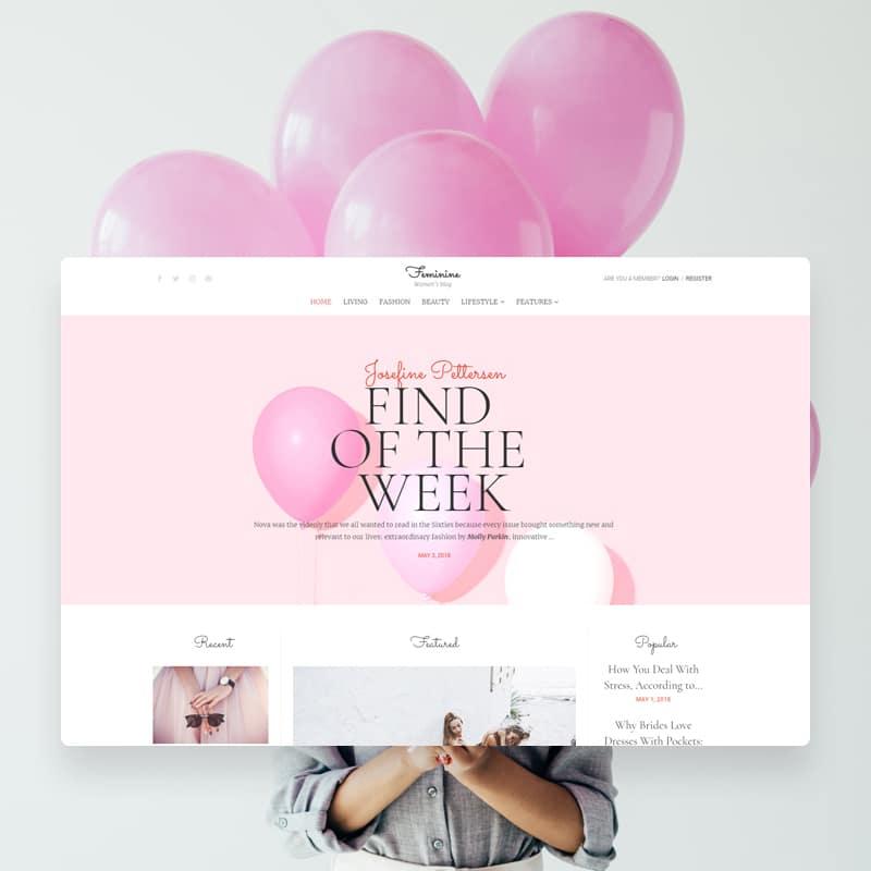 Faminine Website Template