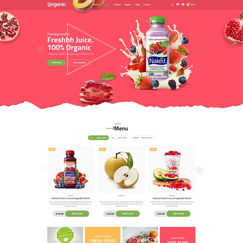 Organic Website Template