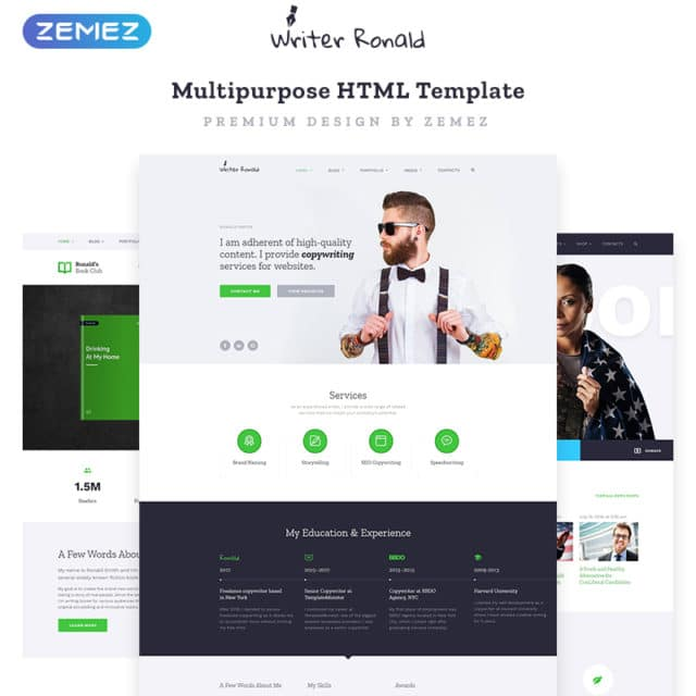 25+ Best Personal Website Templates 2020