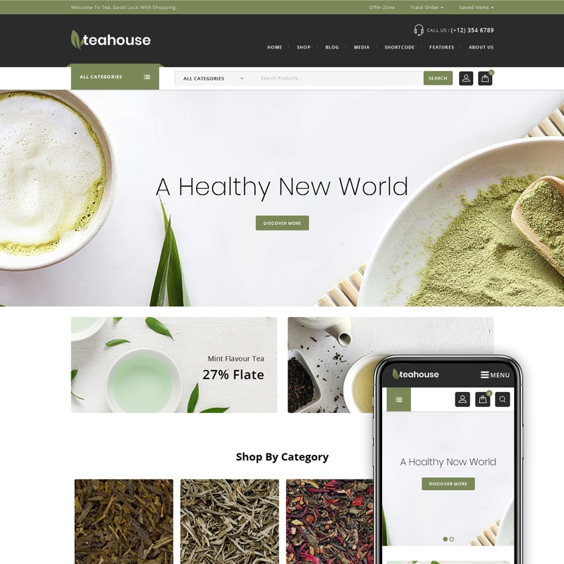 Teahouse Website Template