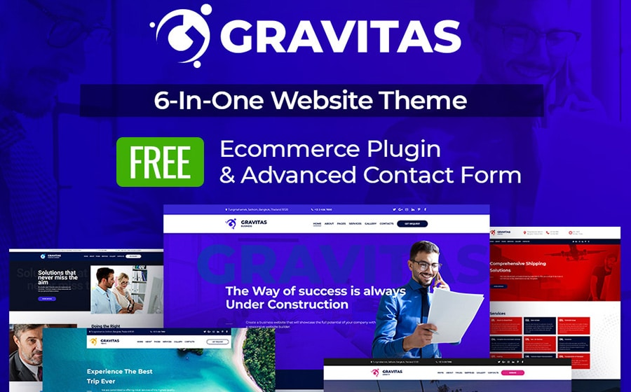 Gravitas Website Template