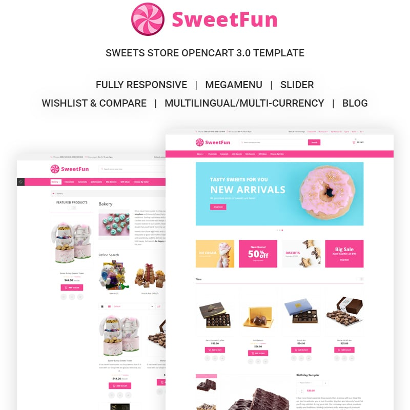 SweetFun Website Template