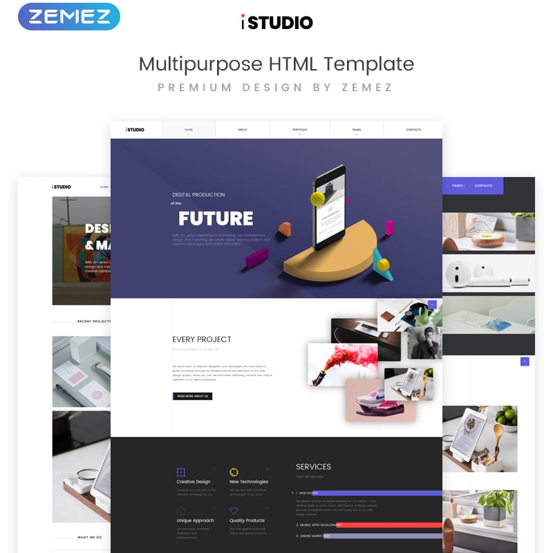 Digital Production Website Template
