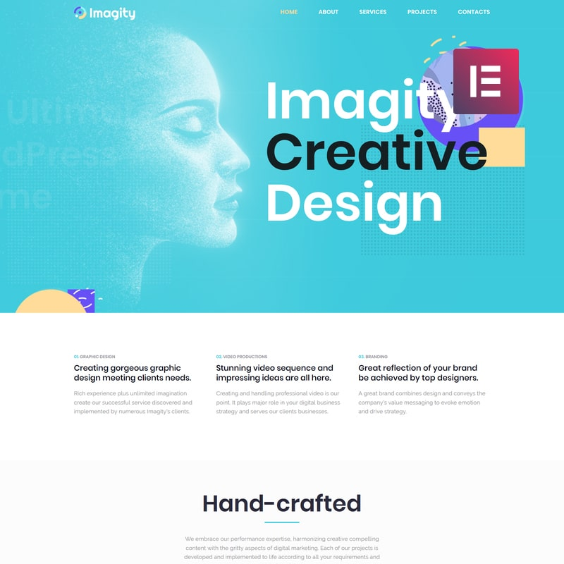 Imagity  Website Template