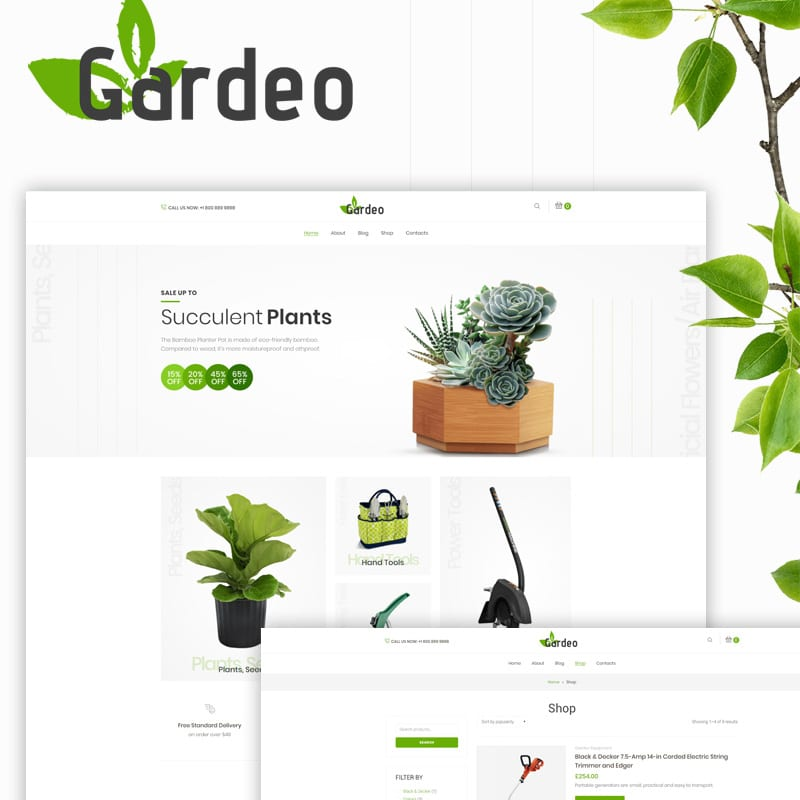 Gardeo Website Template