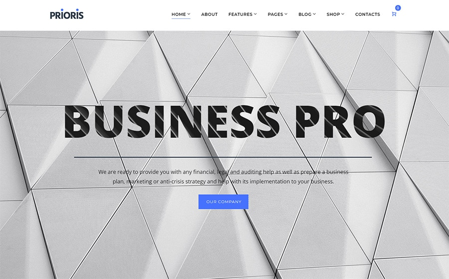 Prioris  Website Template