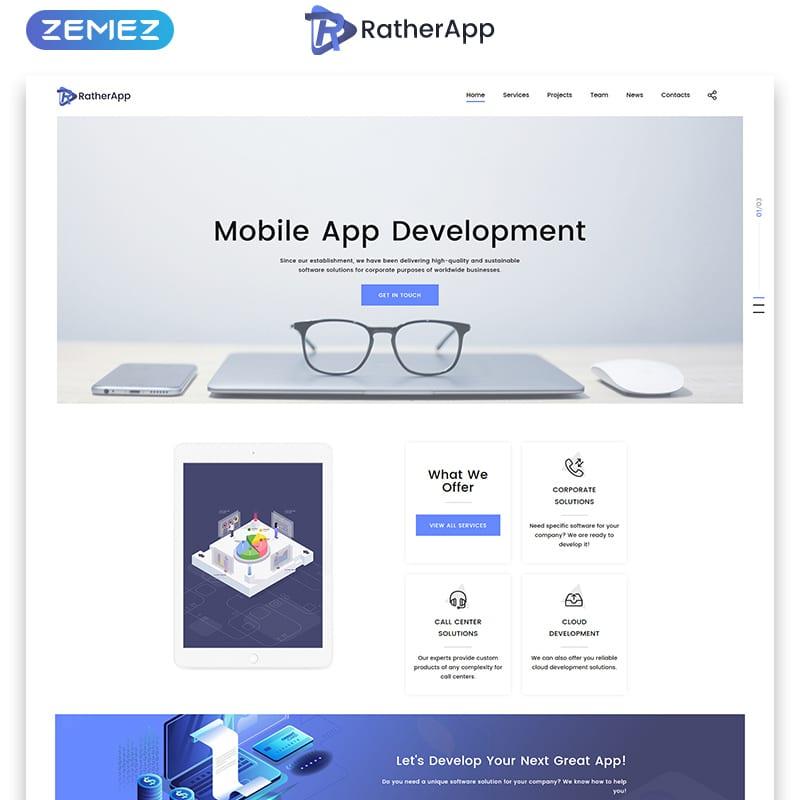 RatherApp Website Template