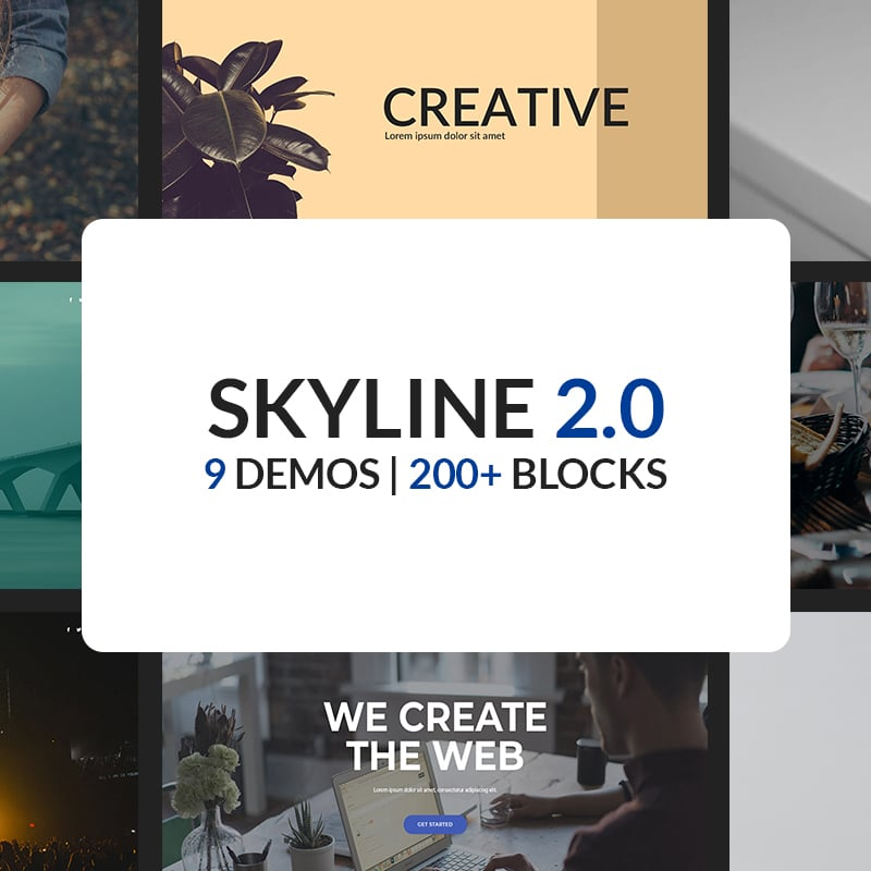 Skyline 2.0 Website Template