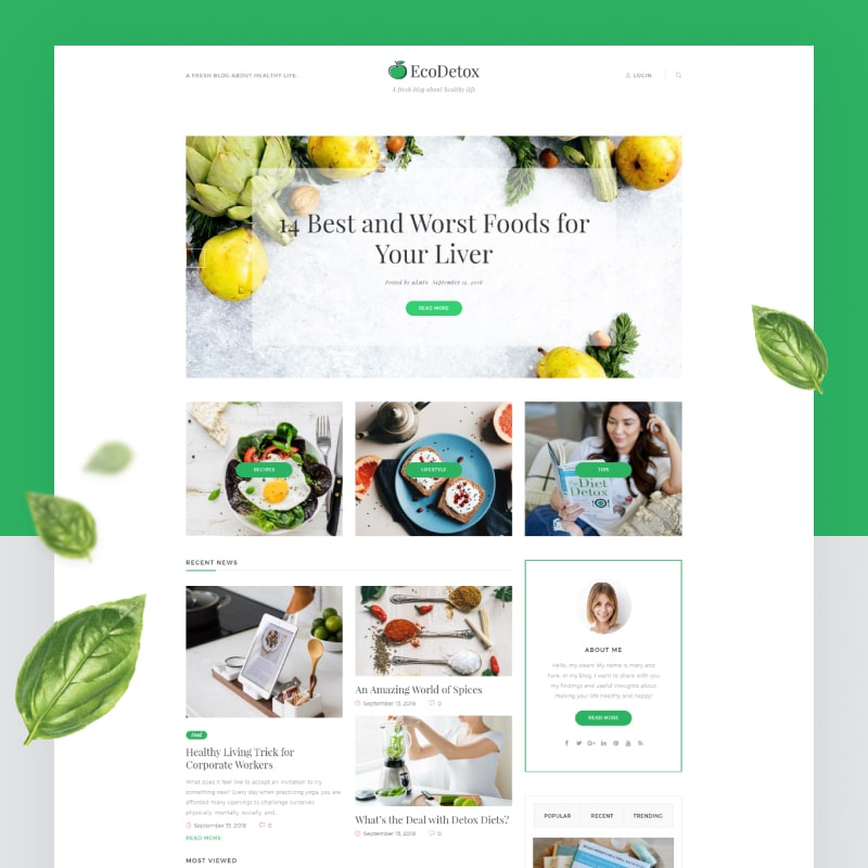 EcoDex Website Template