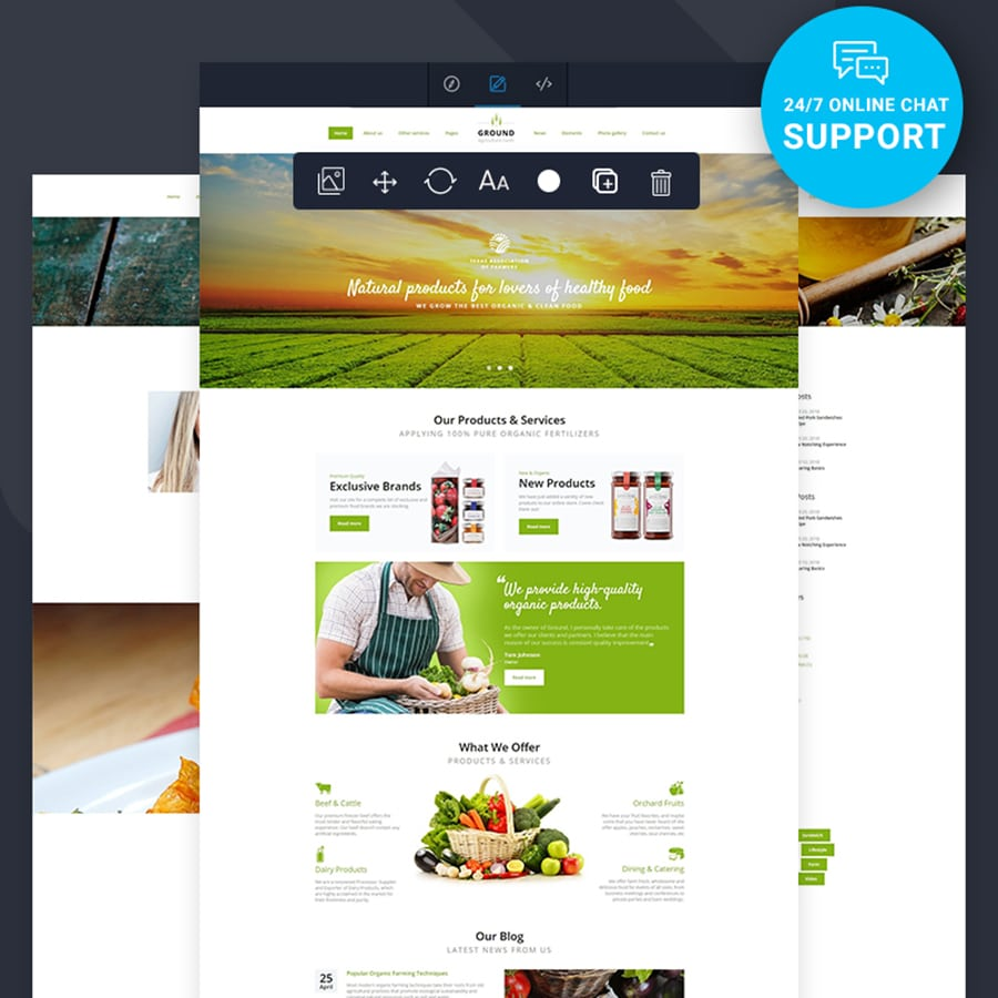Healthy Food Multipage HTML Template Website Template