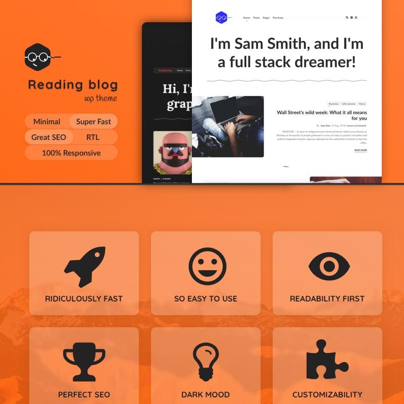 Read Blog Website Template