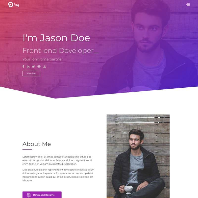 Diag  Website Template