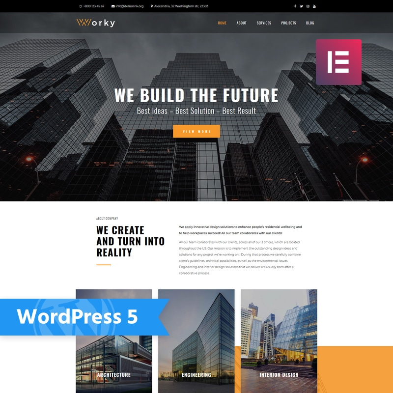 Worky Website Template