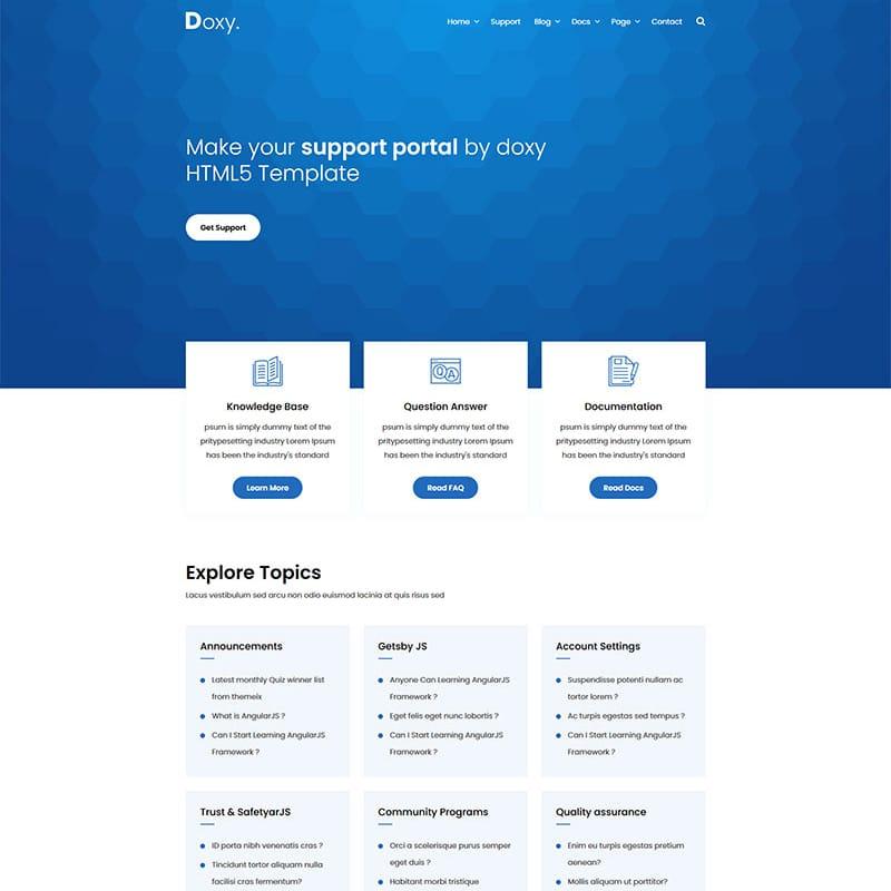 Doxy Website Template