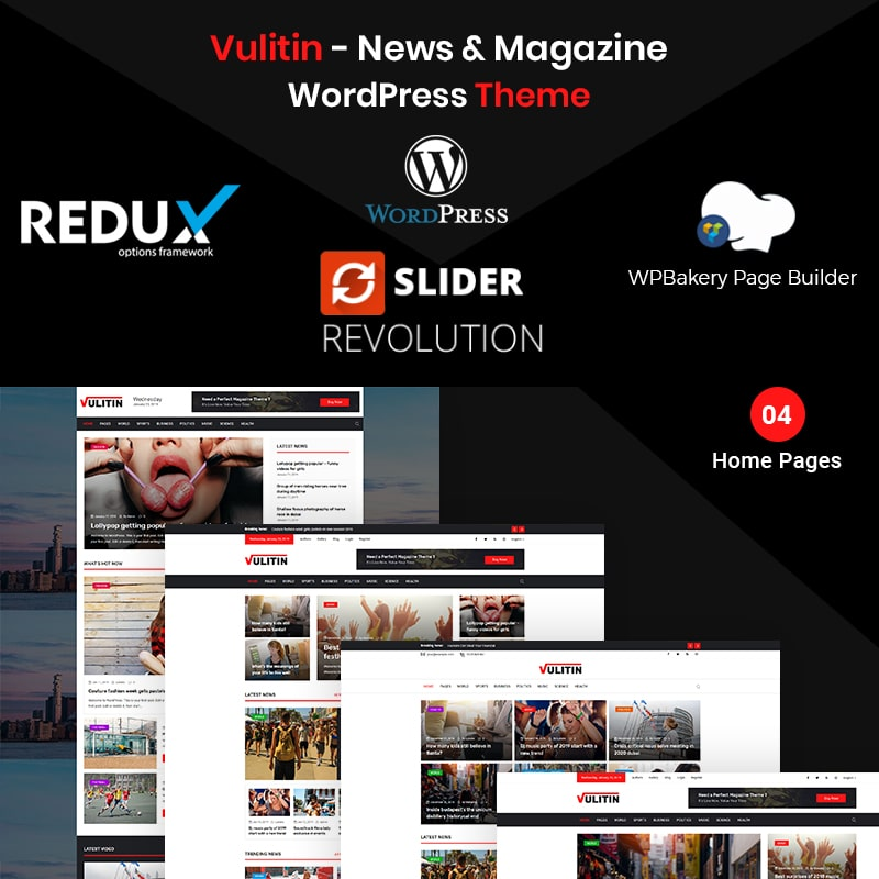 Vulitin  Website Template